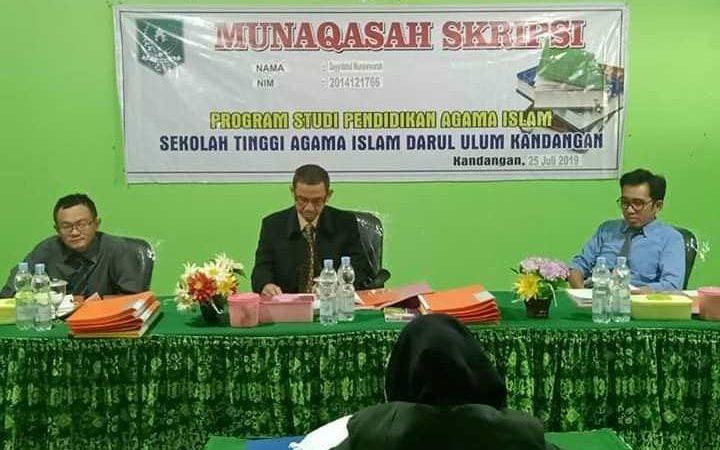 Sidang Munaqasah Prodi PAI